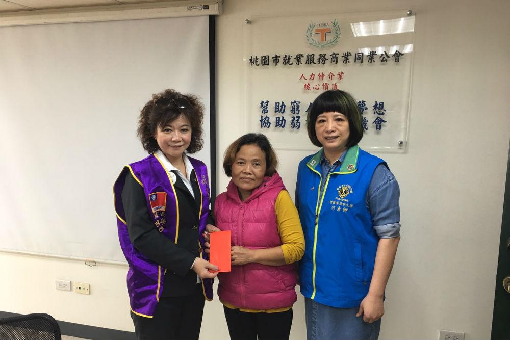 發揮獅友助人無疆界 陳美津秘書長助癌末逃逸移工返鄉安寧